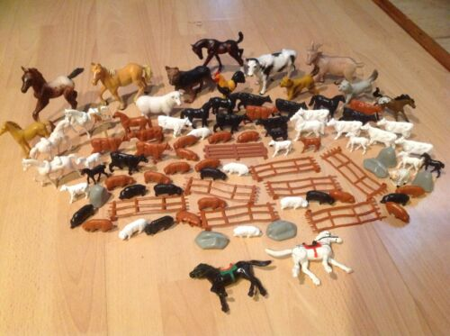 Huge Lot Of Farm Animal Figure Toys - Dogs, Horses, Cows, Pigs, Sheep