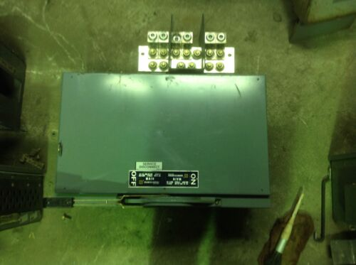 Square D Qmb-367mw  800 Amp 600 Vac Main Fusible Switch