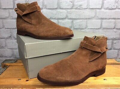 H BY HUDSON MENS UK 8 EU 42 BROWN SUEDE CUTLER CHELSEA BOOTS RRP £115  EP