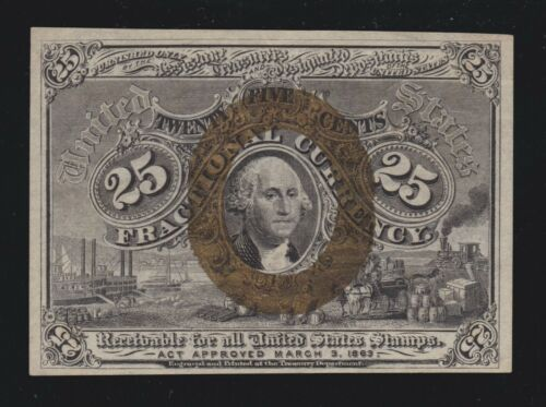 US 25c Fractional Currency 2nd Issue FR 1286 Ch AU