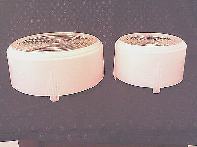 - 3 Mid Century 40's - 50's Light Fixture Covers - Diffusers for Kitchen & Bath