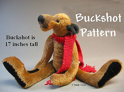 "Mohair or Plush ""Buckshot""  a Bear PATTERN  by  Neysa  Phillippi of Purely Neysa"