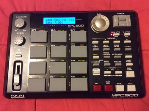 Akai MPC500 Blacked Out Expanded Model Portable Music Production Sample Japan