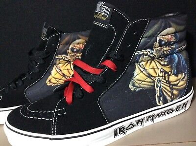 vans x iron maiden sk8 hi skateboard shoes