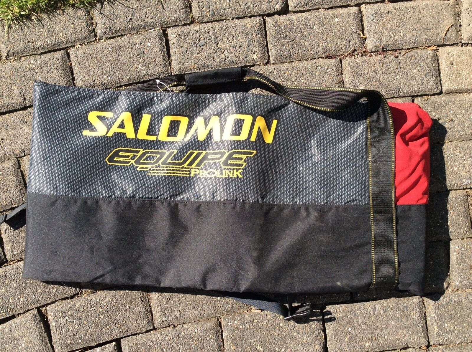 Skisack Salomon schwarz-rot für 2 Paar Ski