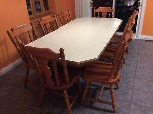 Table and 8 chairs