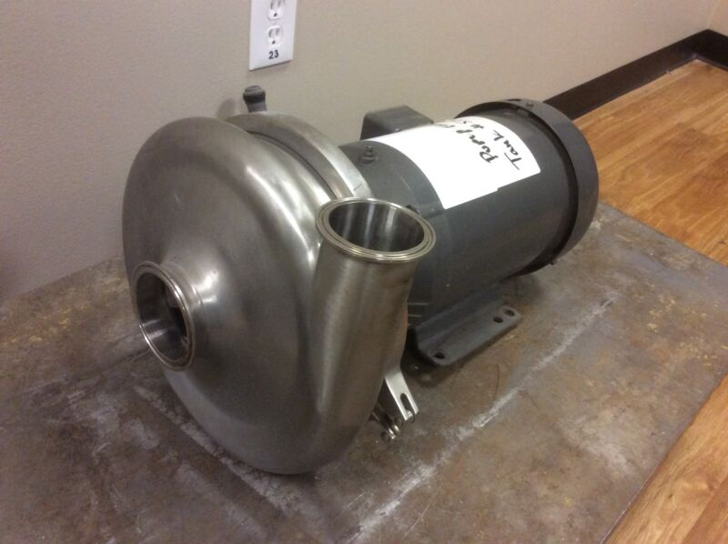 "WAUKESHA 2085 STAINLESS STEEL CENTRIFUGAL PUMP 3"" X 2-1/2"" IN/OUT TRI-CLAMP"