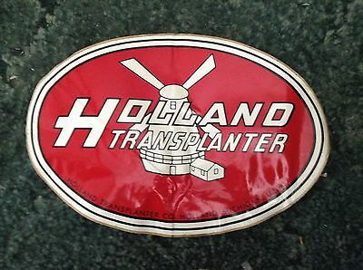 A New Holland Transplanter 8x12 Oval Decal Logo For Holland Transplanter Setters