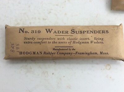 (Vintage Wader Suspenders No.319, Hodgman Rubber Co. Original Packaging)