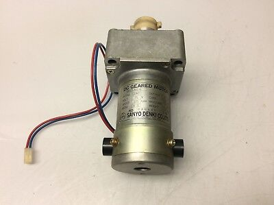 Sanyo Denki DC Geared Motor, M603-401-G, 75V, 4:1 Ratio, Used, Warranty