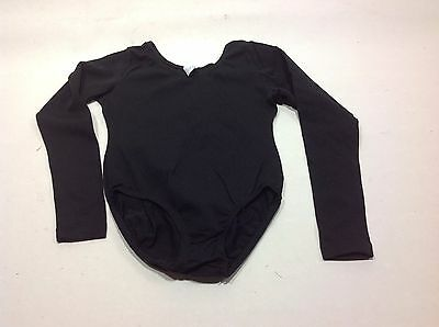 Girls Black Long Sleeve Leotard (JC Penny Basic Black Long Sleeve Girls Leotard)