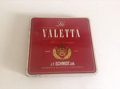 Ancienne boite en métal fer Cigares La Valetta TBE