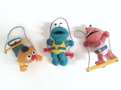 Vintage lot de 3 anciennes figurines Sesame Street