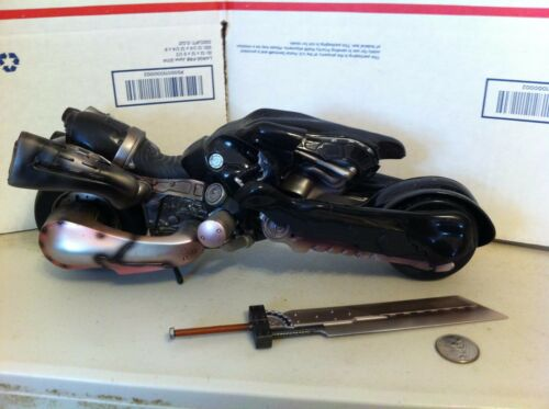 TWO Motorcycles from Play Arts Cloud Strife FF7 Final Fantasy VII MINT