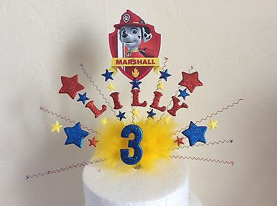 Paw patrol Mighty Pups cake topper made with your choice of name and age](Paw Patrol Puppy Names)
