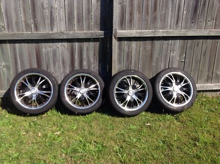 Wheels and tyres  x 4 off Hyundai  lantra  Mount Colah Hornsby Area Preview