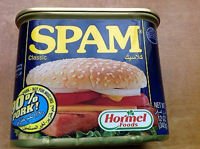 Spam Classic Hormel Foods International Arabic  90  Pork Not For Muslims  Label