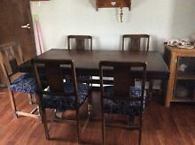 Antique table and chairs Salt Ash Port Stephens Area Preview