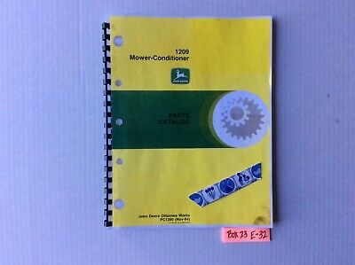 John Deere 1209 Mower-conditioner Parts Catalog Pc1380