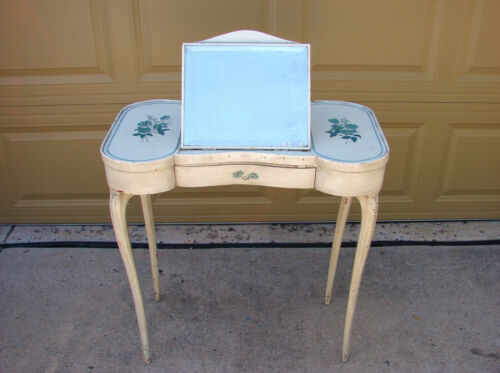 Antique French Lift Mirror Top Coiffeuse Dressing Table