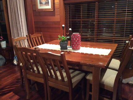 Dining Table with 6 upholstered chairs Chatswood Willoughby Area Preview