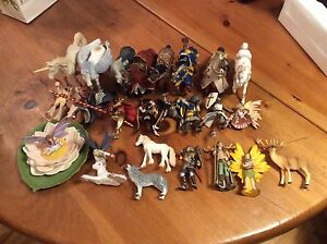 Full collection of schleich collectibles.