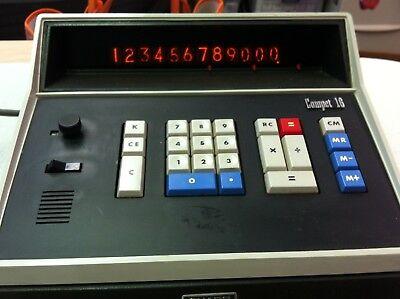 Vintage Sharp Compet Cs-16s Desktop Calculator 12 Nixie Tube Display
