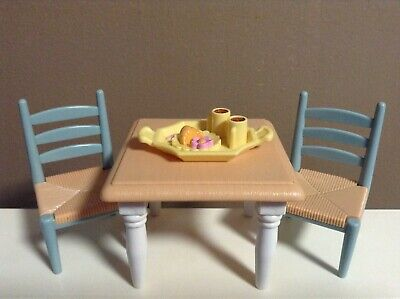LOVING FAMILY LOT TABLE & CHAIRS DOLLHOUSE DINING ROOM FURNITURE FISHER PRICE