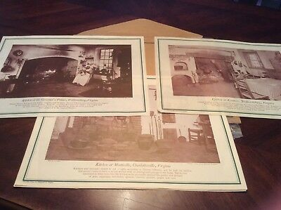 Historic Kitchens Vintage 1940s Set Of 8 Dietz Press Paper Table Mats Placemats