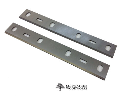 """6"""" inch Jointer Blades Knives for Grizzly Bench Model G0612 & G0725, Set of 2"""