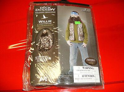 DUCK DYNASTY WILLIE CHILD HALLOWEEN COSTUME SIZE - Child Duck Dynasty Halloween Costumes