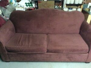 Wine coloured couch