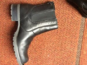 Chelsea style  leather ankle boots