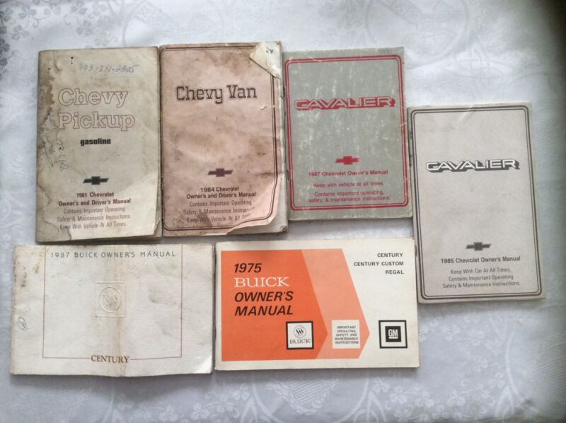 Vintage Miscellaneous Auto Owners Manuals Lot of 6