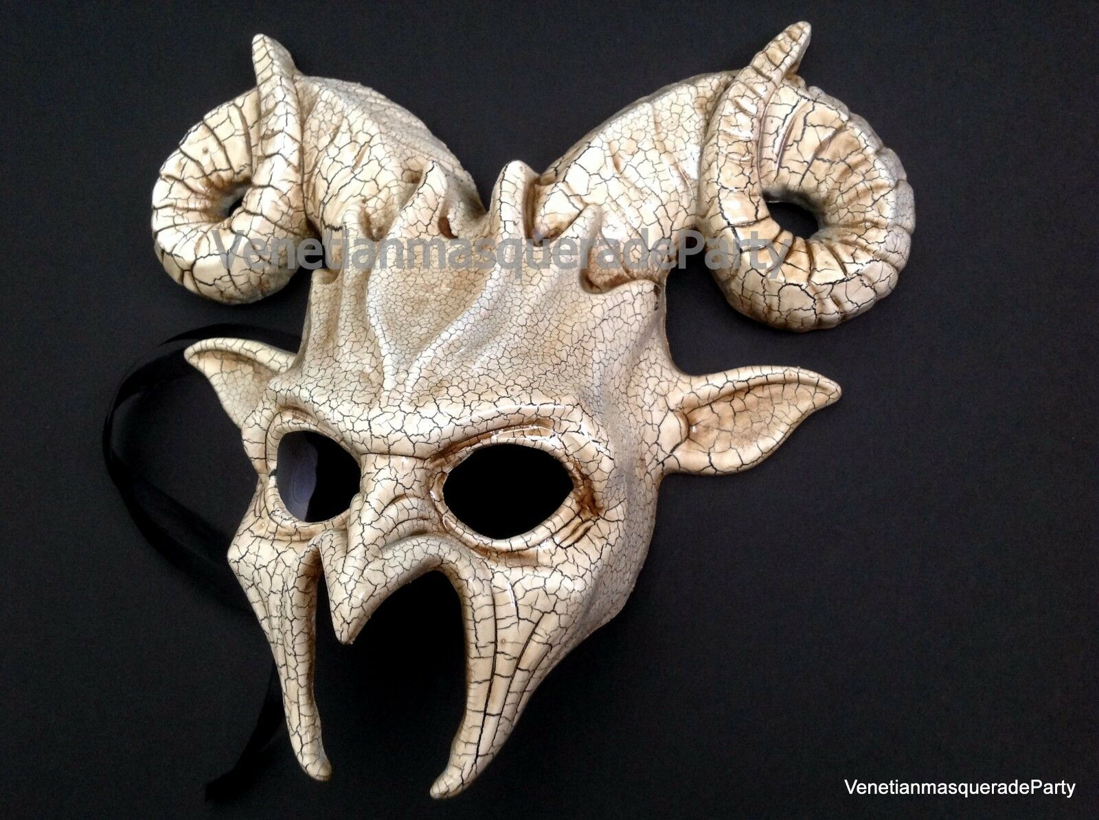 Ram Goat Masquerade Devil horror Mask Halloween costume Animal Art ...
