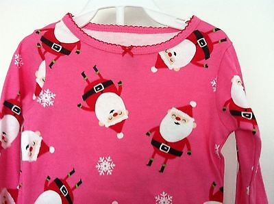 Carter's Two Piece Pajamas Pink with Santa's Allover LS Size 12M NWT