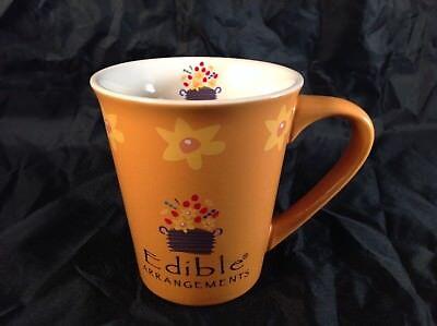 Edible Arrangements Tall Ceramic Coffee  Tea Mug  Cup  Yellow   Orange