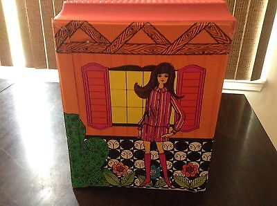 Vintage Barbie Family House Vinyl Folding House with Furniture