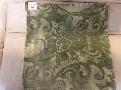Pottery Barn Scarlett Velvet Pillow Cover Christmas Holiday NWT! 22x22 Green