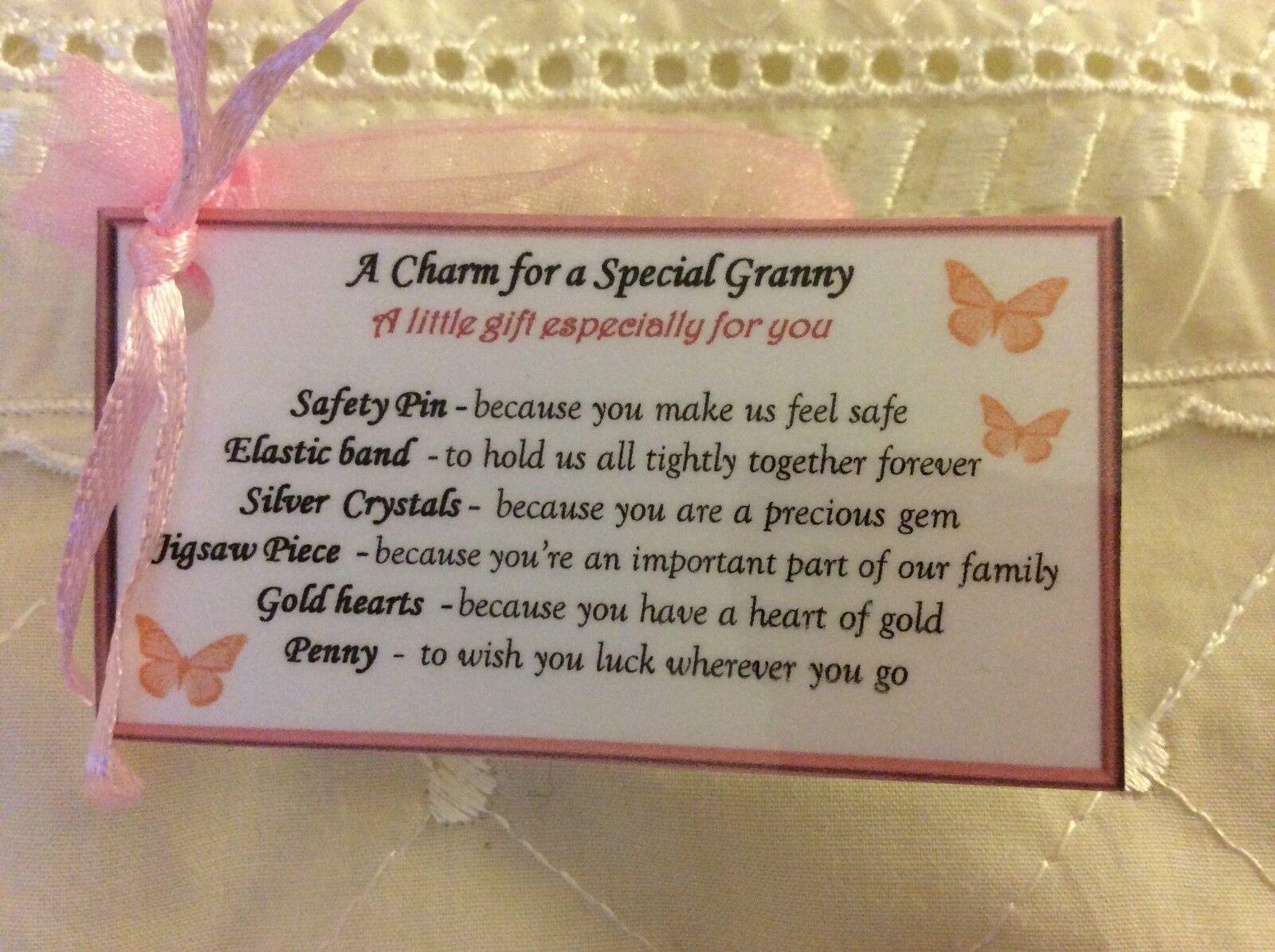 Keepsake Mothers Day Gift For Gift Granny Gran Grandma Birthday Gift