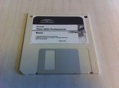 Microsoft Visio 2002 Professional Basic Course Technology Thomson Learning Disk