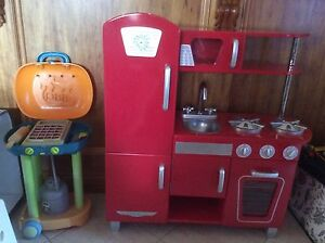 Kids RED (boy/girl) kitchen and BBQ package. Joslin Norwood Area Preview