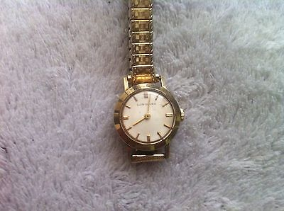 """Vintage 10Kt Gold Filled Longines Women's Wrist Watchman on the alert for""""@ LOW PRICE  """"L@@K"""""""