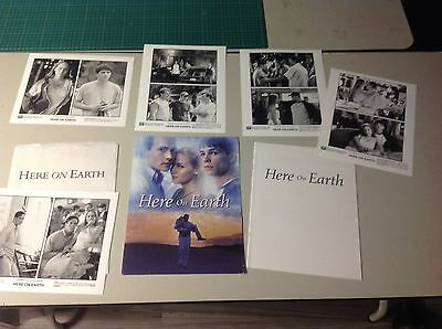 OOP rare Movie Press Kit HERE ON EARTH Film 8x10. photos mini poster.. ..