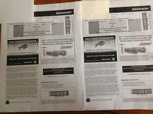 Two tix to Bills/Dolphins Christmas Eve. Great seats!!