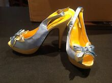 Yellow and blue high heel shoes size us7 Westdale Tamworth City Preview