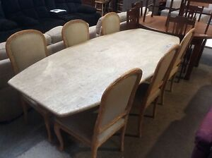 Travertine 7 Piece Dining Suite Wangara Wanneroo Area Preview