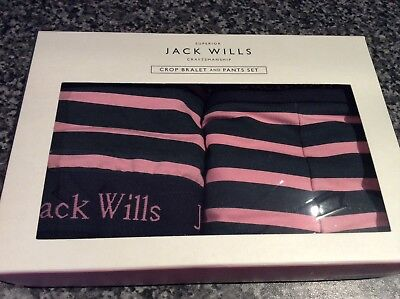 BNWT New Jack Wills Pink & Navy Crop Bralet & Pants / Crop Top & Shorts for sale  Shipping to Ireland