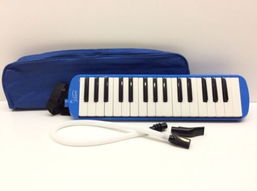 Melodica 32 Piano Keys with Carrying Bag Blue