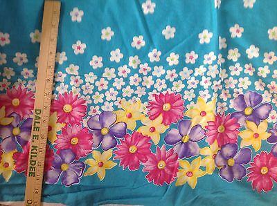 Ткань Double Border pink purple yellow